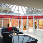 An internal view from a uPVC conservatory