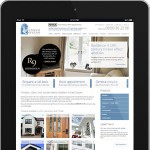 An image of the new retail website in an IPad